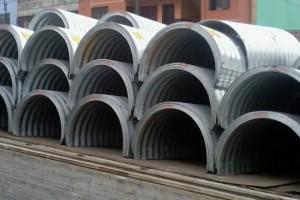 Alcantarillas metálicas, una opción para el drenaje pluvial