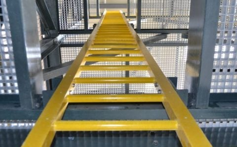 escaleras marinas de fibra de vidrio