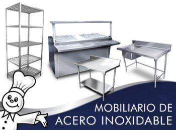 Mobiliario de acero inoxidable for Mobiliario y equipo de cocina