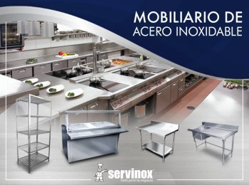 Cat logo ultra de abastecedora de equipos inoxidables servinox - Mobiliario de cocina industrial ...