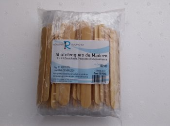 Abatelenguas de plastico esteril